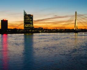 Riga panorama, Latvia