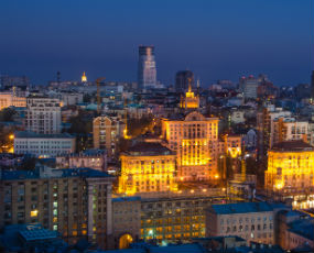 Kiev at the night, Ukraine