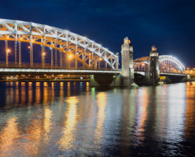 Bolsheokhtinsky bridge on Neva riverSt Petersburg