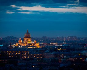 St. Petersburg at the night, Russia