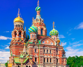 The Church of Our Savior on Spilled Blood in St. Petersburg, Russia