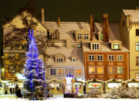 Christmas Market in Riga (winter time)
