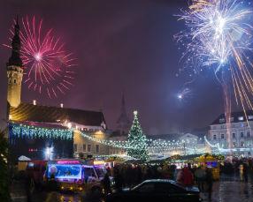New Year evening in Tallinn Old Town