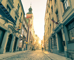 Riga by night - place to visit in Latvia