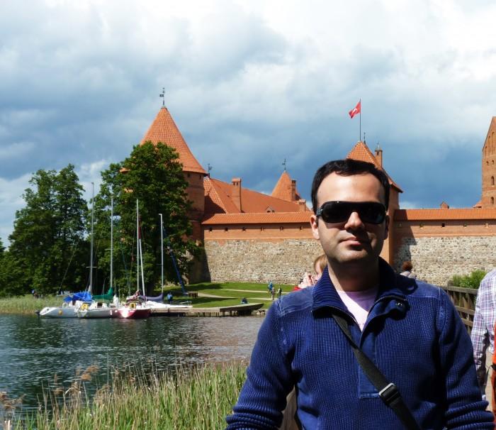 Aleksandru in Trakai visiting Lithuania 700x606