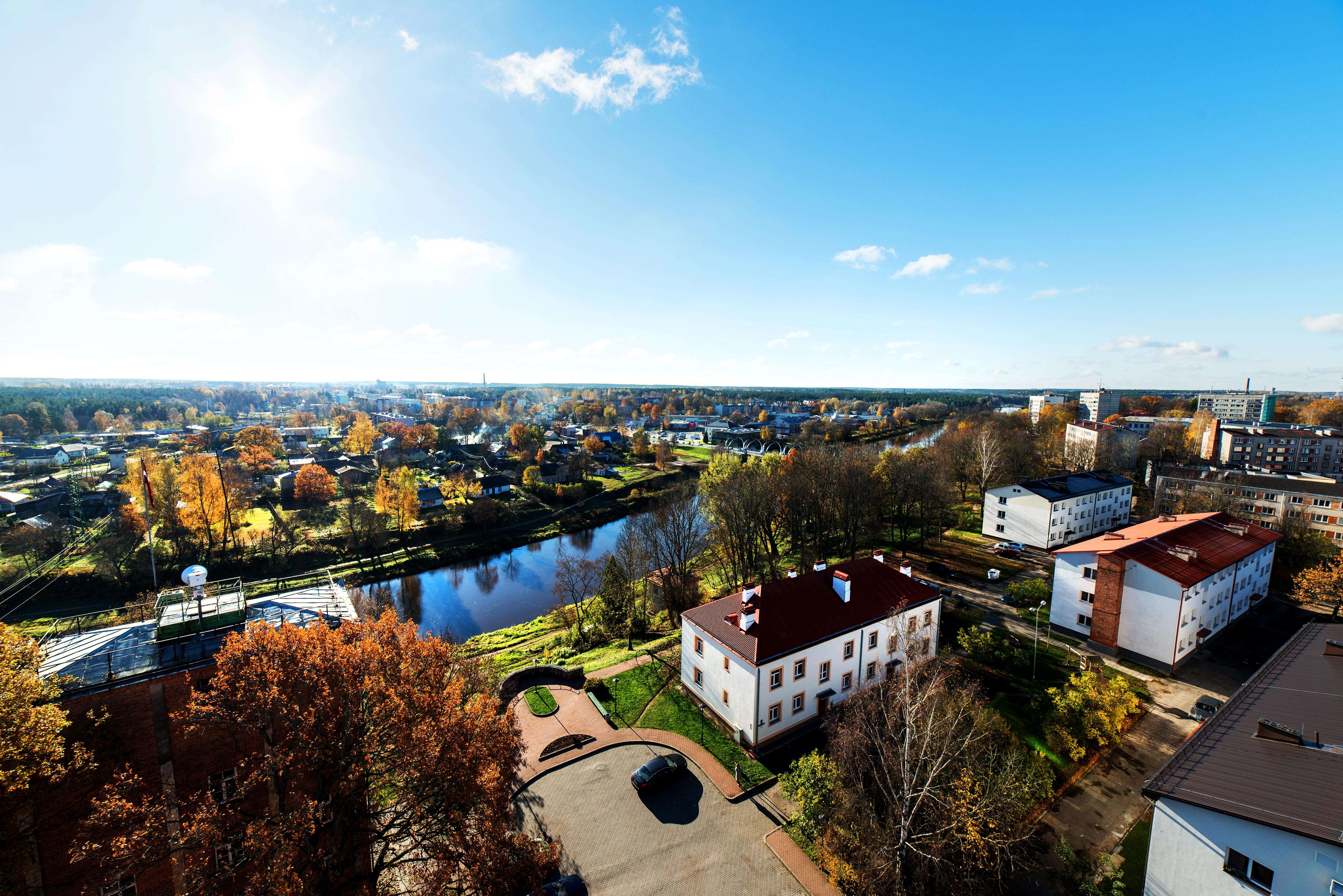 Valmiera panorama, Latvia