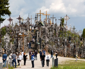 Hill of crosses in Siauliai area, Lithuania