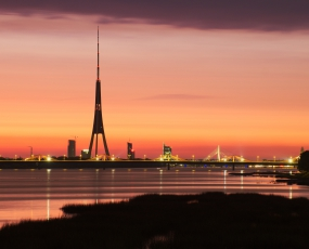 Riga at the night, Latvia