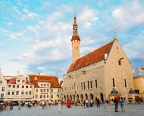 Tallinn Central Town Hall Square, Estonia