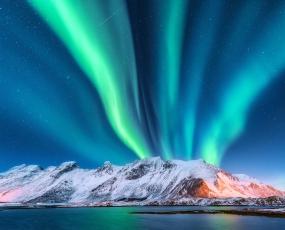 Night landscape in Norway