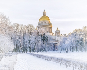 Winter view of St. Isaac's Cathedral, St. Petersburg
