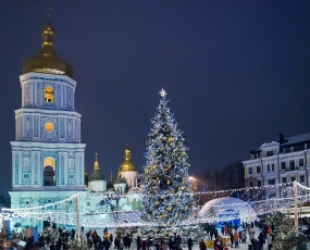 View of Christmas in Kiev