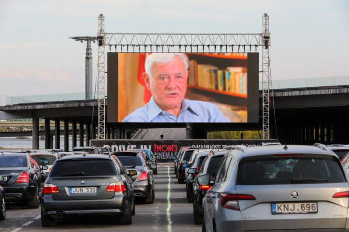 "''Žmonės Cinema"" drive-in cinema in Kaunas"